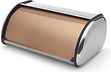 Addis 515718 Deluxe Roll Top Bread Bin-Copper, 22L