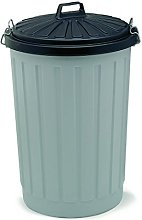 Addis B766GRY Outdoor Round Dustbin with Lockable