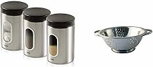 Addis Deluxe 3 Pack Canisters-Stainless Steel,