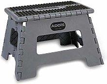 Addis Folding Step Stool Stool Tools Metallic Grey
