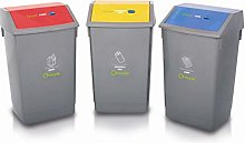 Addis Recycling Bin Kit Bases No Lids, Plastic,