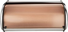 Addis Roll Top Stainless Steel and Copper Bread Bin