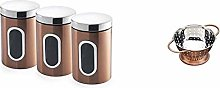 Addis Set of 3X Canisters-Coppers, Metal 1.4L &