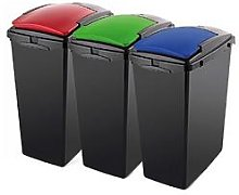 Addis Set Of Three 40-Litre Recycling Utility Bins