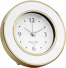 Addison Ross Alarm Clock (White Enamel & Gold)