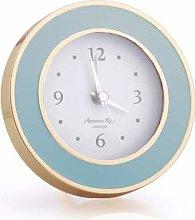 Addison Ross Round Clock Powder Blue & Gold