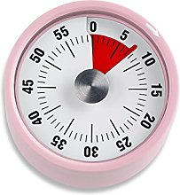 ADE Kitchen timer mechanical Retro in pink, 7 x 6