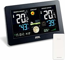 ADE Wireless Weather Station with Sensor, Black,
