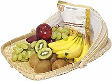 adfafw Food Serving Basket with Cover Handwoven