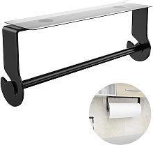 Adhesive Paper Towel Holder Under Cabinet, Black