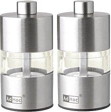 Adhoc MP31 Mini Pepper and Salt Mill Set Stainless