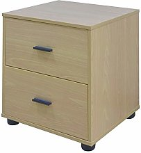 ADHW 1 Or 2 Drawer Wooden Bedside Table Cabinet