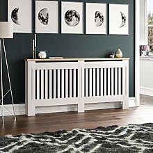 ADHW Arlington Radiator Cover White Grey Modern