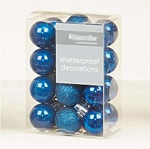 ADHW Blue Christmas Tree Decorations, Shatterproof