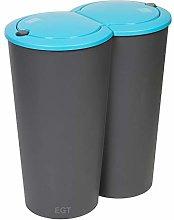 ADHW Circular Double Recycling Waste Bin Duo