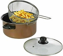 ADHW Deep Fat Fryer Set Black Marble Finish Look