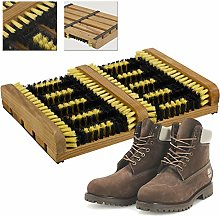 ADHW Heavy Duty Double Shoe Boot Scraper Brush
