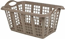 ADHW Large 60L Pastel Laundry Basket With Folding