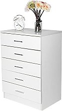 ADHW Modern Chest of Drawers White Bedroom