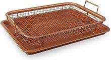 ADHW Non-Stick Air Fryer Oven Crisper Tray Copper