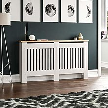 ADHW Radiator Cover White Modern Traditional MDF