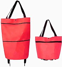 ADICOM 2 In 1 Foldable Shopping Cart Bag, Foldable