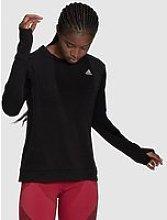 Adidas Cooler Long Sleeve Sweat Top - Black