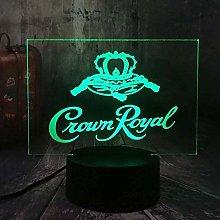 ADIS 3D Illusion Lamp Led Night Light Night Crown