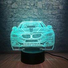 ADIS 3D Night Light Car 3D Lamp Multicolor RGB