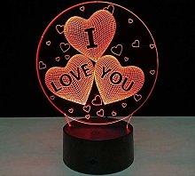 ADIS Table/Desk Night Lighing I Love You Colorful