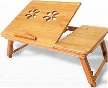 Adjustable Bamboo Rack Shelf Dormitory Bed Lap