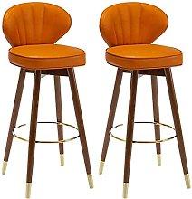 Adjustable Barstools Modern PU Leather Bar Stools