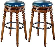 Adjustable Barstools Retro Wooden Antique