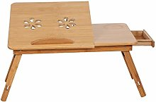 Adjustable Bed Serving Table, Portable Folding