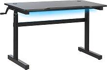 Adjustable Gaming Desk with RGB LED Light 120x60