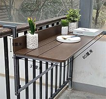 Adjustable Height Folding Hanging Table, Balcony
