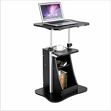 Adjustable Height Laptop Desk with Swivel Rotate