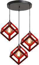 Adjustable Metal Pendant Light Square Lamp Shade 3