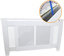 Adjustable Radiator Cover MDF White 1400mm - 1920mm
