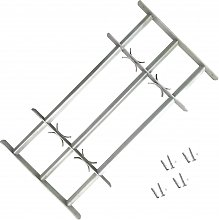Adjustable Security Grille for Windows with 3