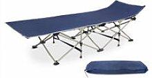 Adjustable Sun Lounger, Folding Beach Bed, 190 x