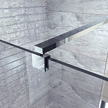 Adjustable Wall To Glass Shower Support Bar Arm