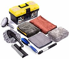 ADLOASHLOU 9Pcs Car Cleaning Tools Kit, for
