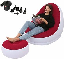 Adminitto88 Deluxe Inflatable Lounge Lounger Chair