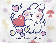 AdoDecor Cute Kids Tapestry Polyester Rabbit