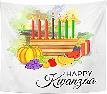 AdoDecor for African Kwanzaa Festive Candles Red