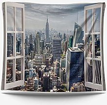 AdoDecor Landscape Wall Hanging Tapestry Beach