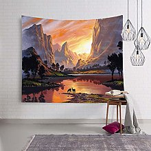 AdoDecor Mountain Tapestry Wall Hanging Landscape