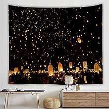 AdoDecor Tapestry Wall Hanging Tapestry 3D Night