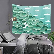 AdoDecor Tropical Plant Tapestry Bohemian